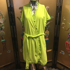 Large lime green robe w/belt